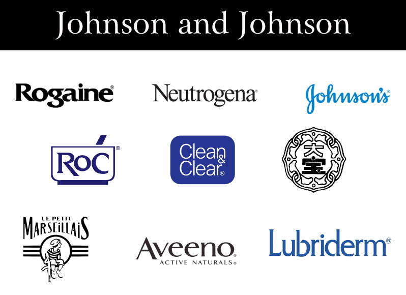 Các nhãn hàng của Johnson and Johnson