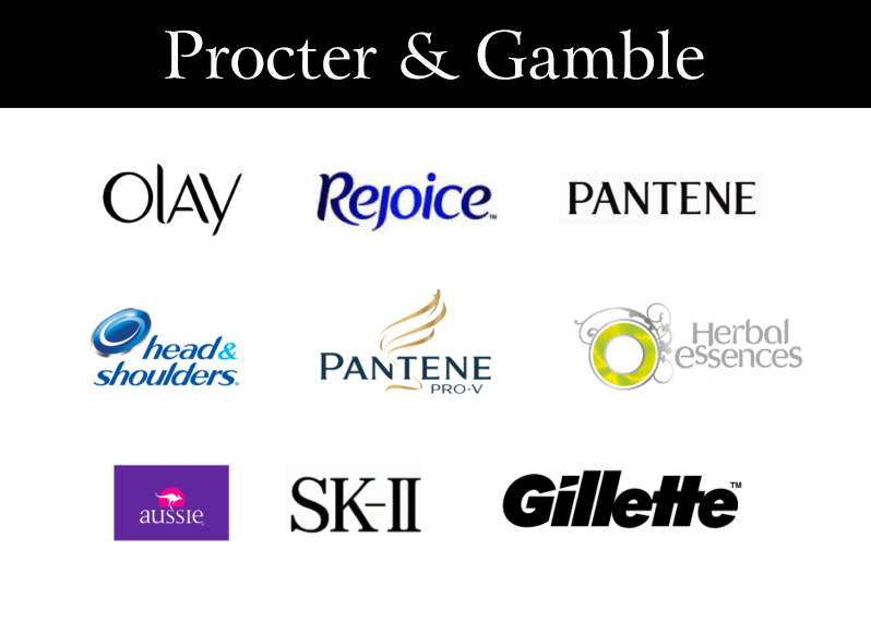 Các nhãn hàng lớn của Procter & Gamble