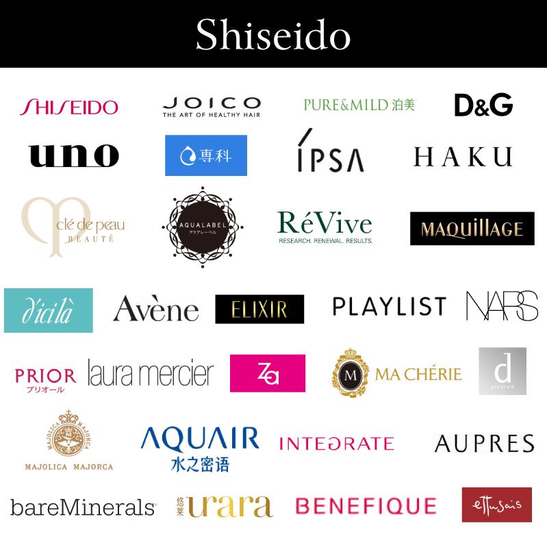 Các nhãn hàng của Shiseido
