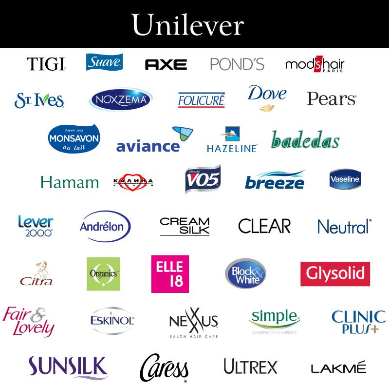 Các nhãn hàng mỹ phẩm của Unilever