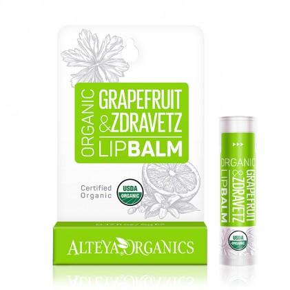 Son dưỡng môi hữu cơ Alteya Organics Grapefruit Zdravetz (hương bưởi)
