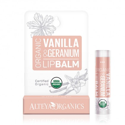Son dưỡng môi hữu cơ Alteya Organics Vanilla Geranium