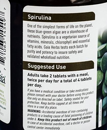 Tảo Spirulina Gaia hữu cơ 3