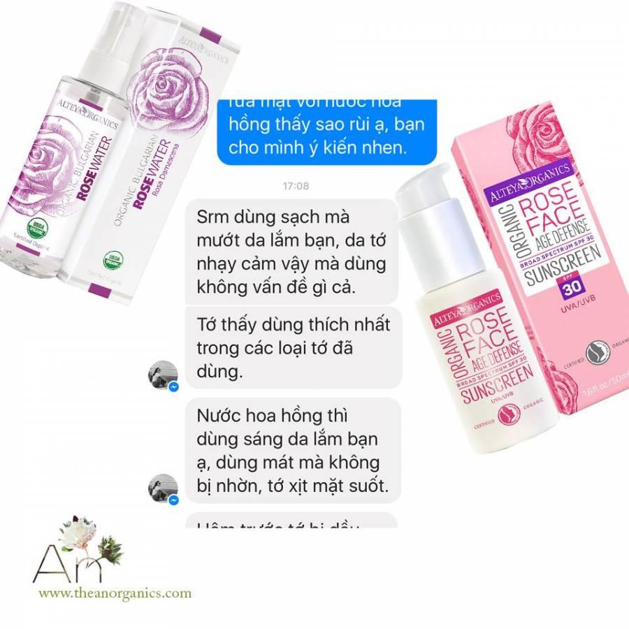 Review nước hoa hồng hữu cơ Alteya Organics trên Facebook