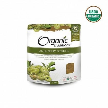 Cung cấp vitamin C và chất chống oxy hóa. Bột Amla hữu cơ Organic Traditions 200g 1
