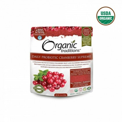 Lợi khuẩn cho đường ruột và hệ tiêu hóa Probiotic Organic Traditions Cranberry 60g 1