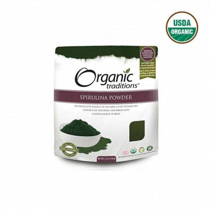 Bột tảo hữu cơ Spirulina Organic Traditions 150g 1