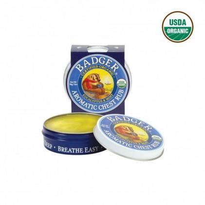 Sáp thơm làm ấm ngực hữu cơ Badger Aromatic Chest Rub 56g 1
