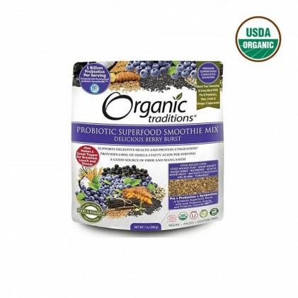 Bột lợi khuẩn Organic Traditions Berry Brust 200g 1