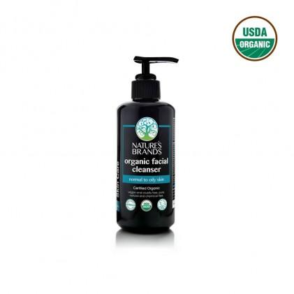 Sữa tẩy trang và rửa mặt hữu cơ cho da dầu Nature's Brands facial cleanser 200ml 1