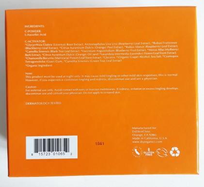 Huyết thanh vitamin C hữu cơ DrJ Skinclinic Organic C-Powder Kit 3