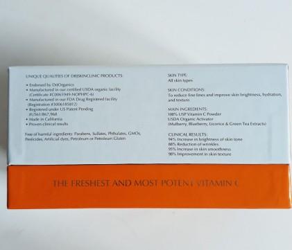 Huyết thanh vitamin C hữu cơ DrJ Skinclinic Organic C-Powder Kit 4