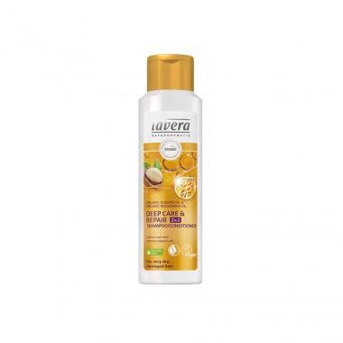 Dầu gội Lavera 2in1 gội và xả cho tóc khô, hư tổn 250ml