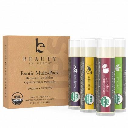 Dưỡng môi hữu cơ hương hoa quả Beauty By Earth 2