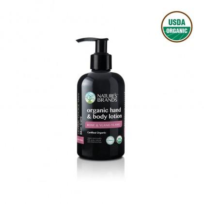 Dưỡng thể và tay hữu cơ hương hoa hồng & ylang ylang Nature's Brands 1