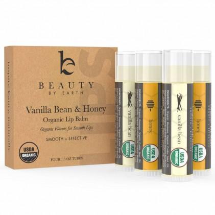 Dưỡng môi hữu cơ vị mật ong và vanilla Beauty By Earth 2
