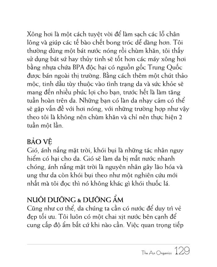 Ebook chăm sóc da toàn diện của The An Organics, Chương 10