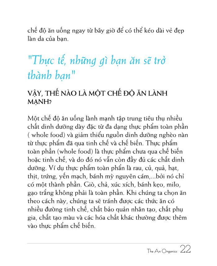 Ebook chăm sóc da toàn diện của The An Organics, Chương 2