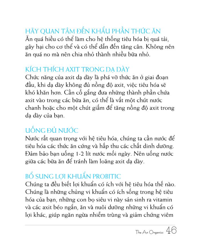 Ebook chăm sóc da toàn diện của The An Organics, Chương 4