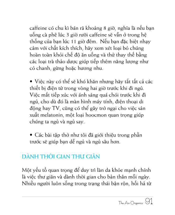 Ebook chăm sóc da toàn diện của The An Organics, Chương 8