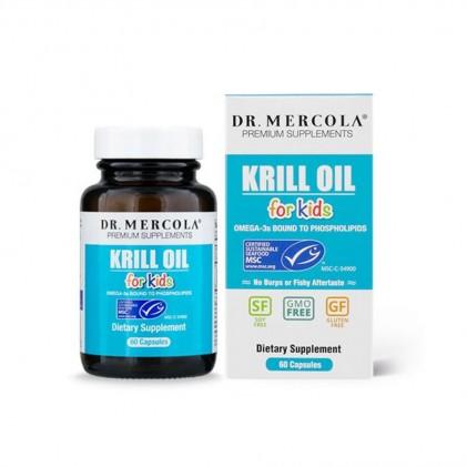 Cung cấp omega 3, dầu nhuyễn thể cho trẻ em Krill Oil for Kids Dr Mercola