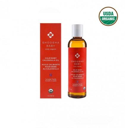 Dầu massage hữu cơ cúc xu xi cho bé Shoosha hương oải hương & vanilla