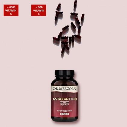Organic Astaxanthin chứa ALA Dr Mercola 4mg 90 ngày dùng 2