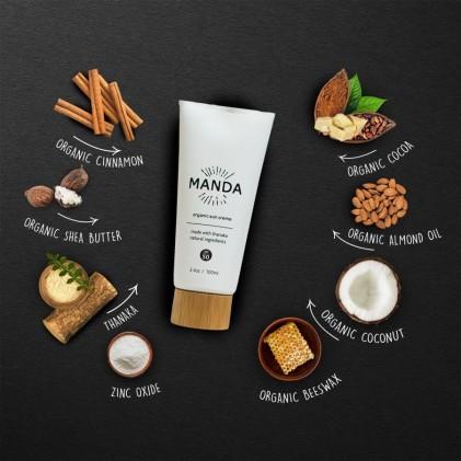 Kem chống nắng Manda Organic Sun Creme SPF50 2