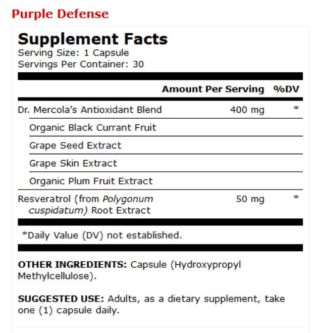 Bổ sung chất chống oxy hóa Resveratrol từ hạt nho Purple Defense Dr Mercola 2