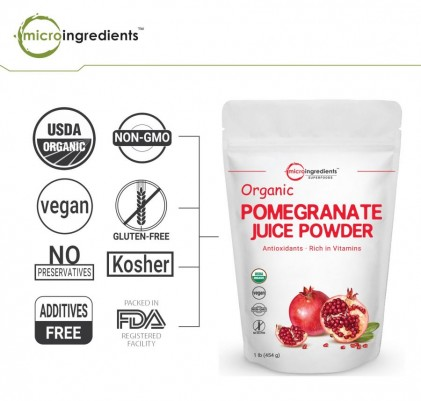 Bột lựu hữu cơ Micro Ingredients Pomegranate Juice Powder 454g 2