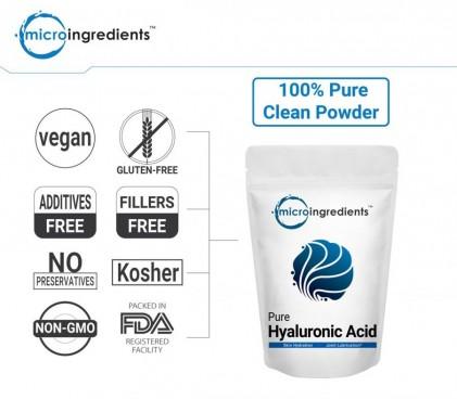 Bột Hyaluronic Acid tinh khiết Micro Ingredients cho sức khỏe của da & khớp & mắt 2