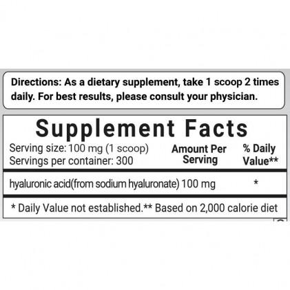 Bột Hyaluronic Acid tinh khiết Micro Ingredients cho sức khỏe của da & khớp & mắt 3