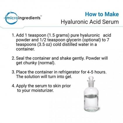 Bột Hyaluronic Acid tinh khiết Micro Ingredients cho sức khỏe của da & khớp & mắt 5