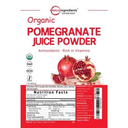 Bột lựu hữu cơ Micro Ingredients Pomegranate Juice Powder 454g 3