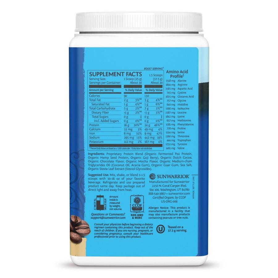 Bột protein thực vật hữu cơ Sunwarrior Warrior Blend 18