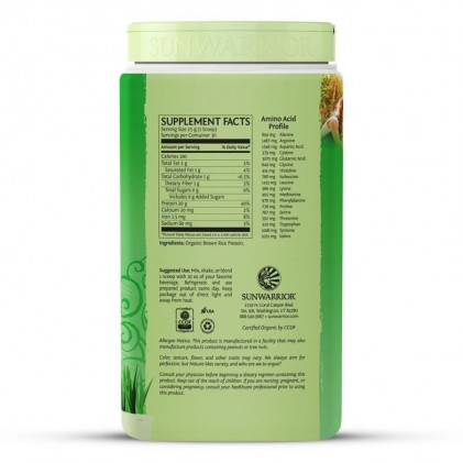 Bột protein thực vật hữu cơ Sunwarrior Classic Protein 9
