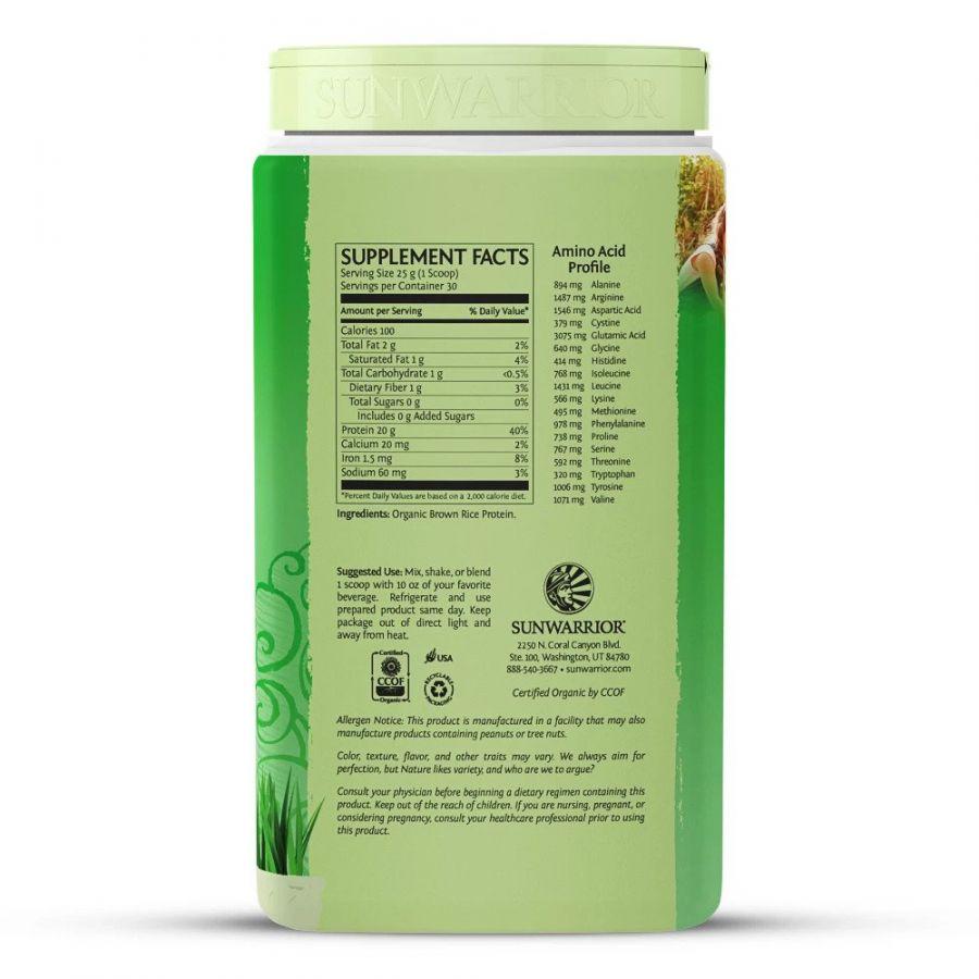 Bột protein thực vật hữu cơ Sunwarrior Classic Protein 18