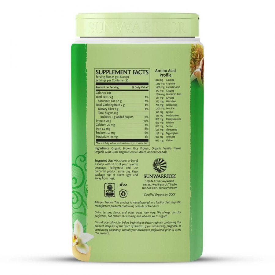 Bột protein thực vật hữu cơ Sunwarrior Classic Protein 20