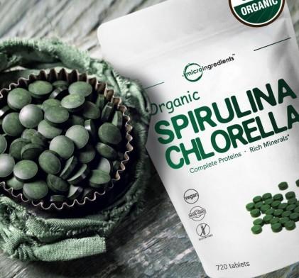 Viên tảo spirulina và chlorella hữu cơ Micro Ingredients 2