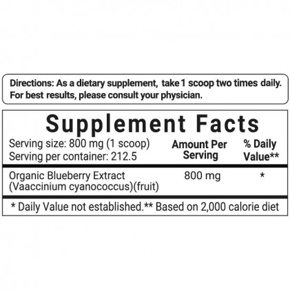 Bột việt quất hữu cơ Micro Ingredients Organic Blueberry 50:1 Concentrate Powder 1