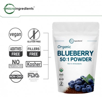Bột việt quất hữu cơ Micro Ingredients Organic Blueberry 50:1 Concentrate Powder 3