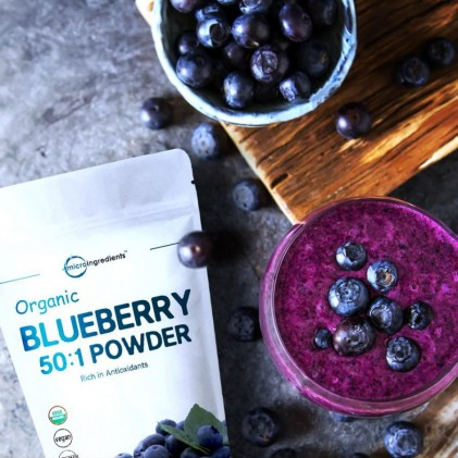 Bột việt quất hữu cơ Micro Ingredients Organic Blueberry 50:1 Concentrate Powder 4