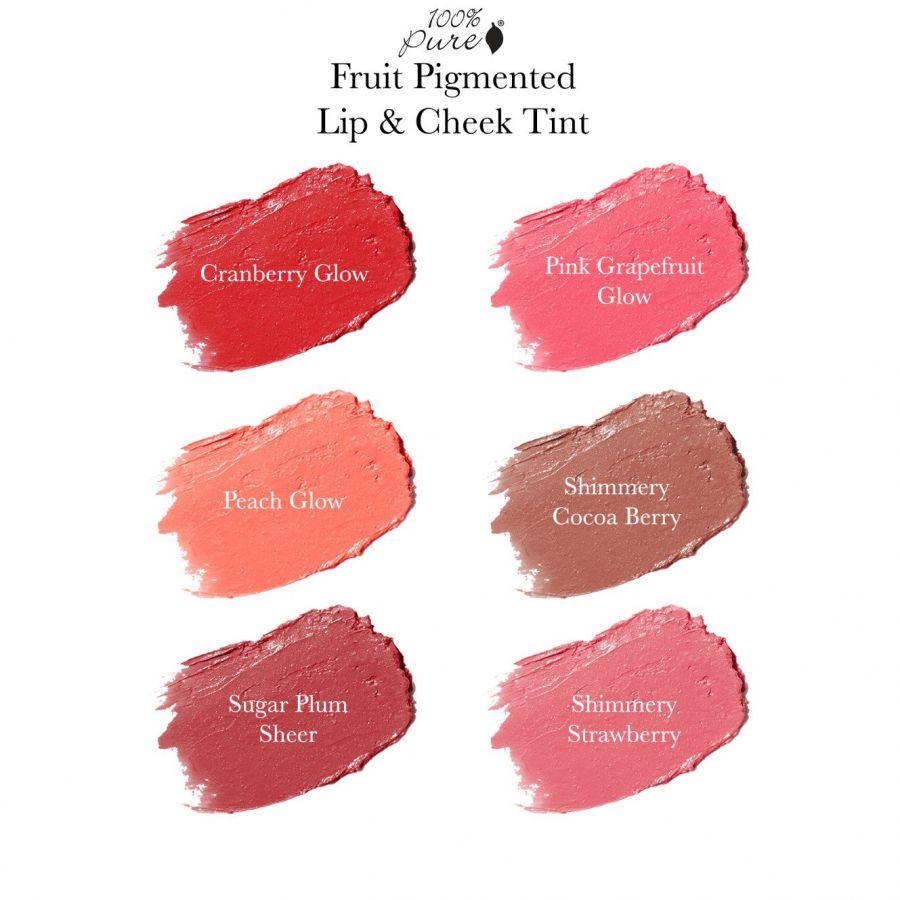 Son má môi 2 trong 1 hiệu 100% Pure Fruit Pigmented Lip & Cheek Tint 2