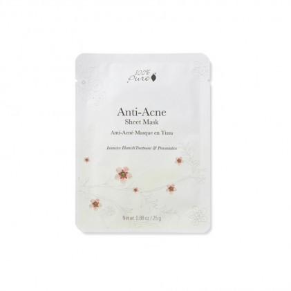Mặt nạ giấy dành cho da mụn 100% Pure Anti Acne Sheet Mask 1