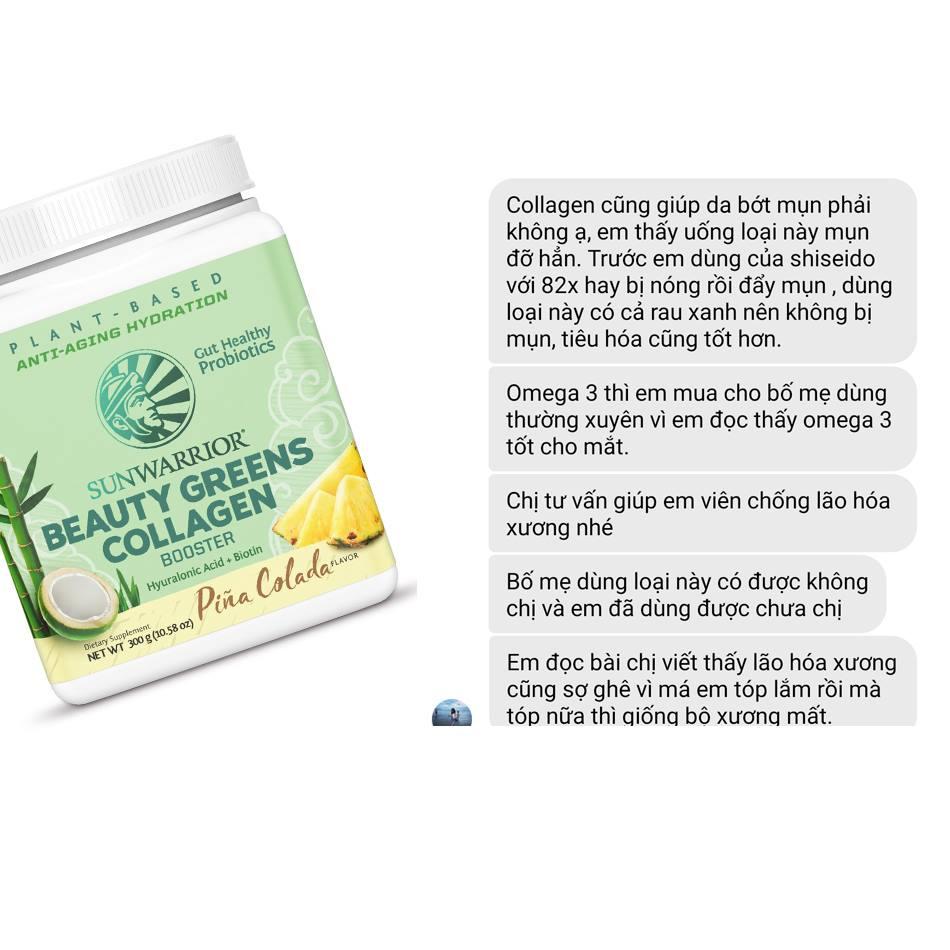 Bột tăng cường collagen với nhiều rau xanh & lợi khuẩn Sunwarrior Beauty Greens Collagen Booster 11