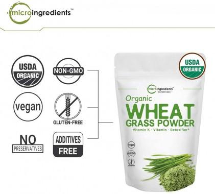Bột cỏ lúa mì hữu cơ Micro Ingredients Organic Wheatgrass Powder 227g 2
