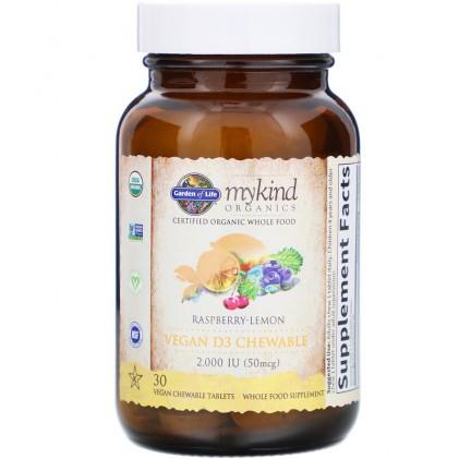 Vitamin D3 hữu cơ dạng viên nhai Mykind Organics 3