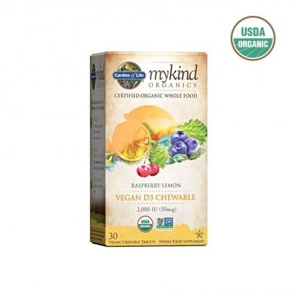 Vitamin D3 hữu cơ dạng viên nhai Mykind Organics 1