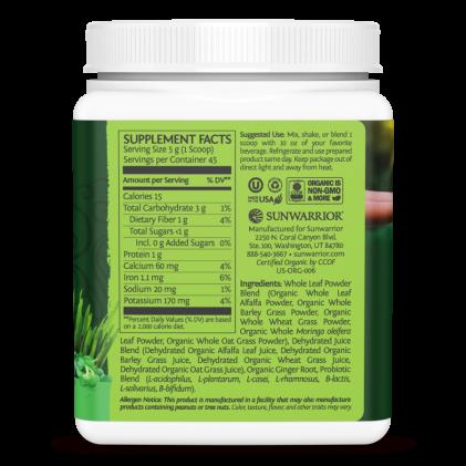 Hỗn hợp thực phẩm xanh hữu cơ Sunwarrior Ormus Super Greens 2