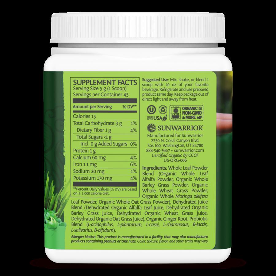 Hỗn hợp thực phẩm xanh hữu cơ Sunwarrior Ormus Super Greens 5